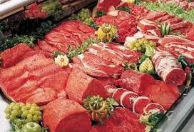 Vers vlees / slagerij